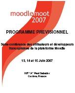 Programme prévisionnel du MoodleMoot 2007